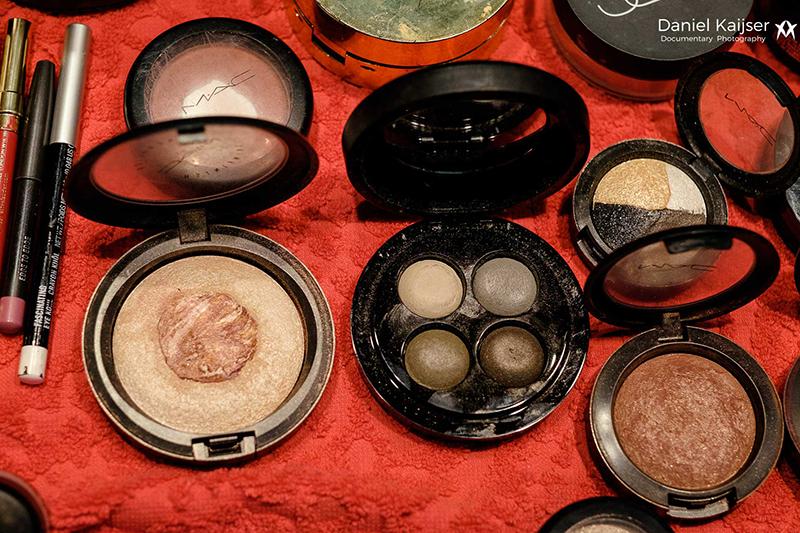 Algunos maquillajes minerales que llevo en mi kit de maquillaje .