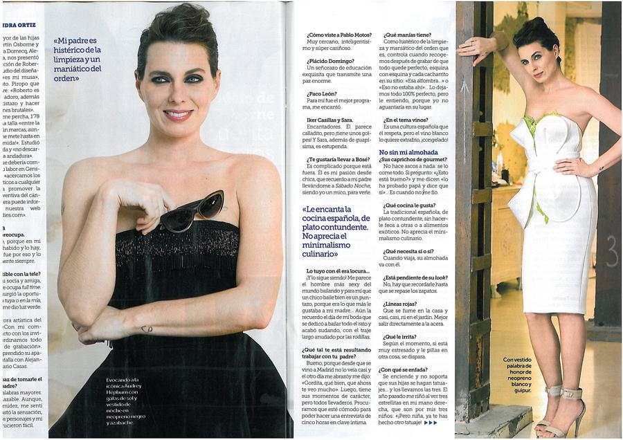 Shooting para Revista Semana con Alejandra Ortiz