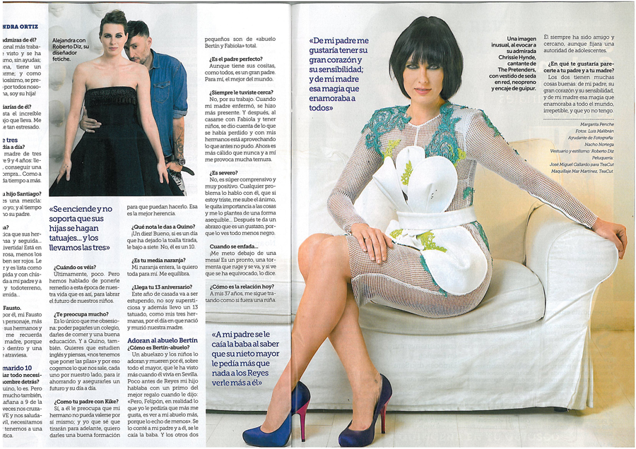 Shooting para Revista Semana, maquillaje de Alejandra Ortiz por Mar Martínez