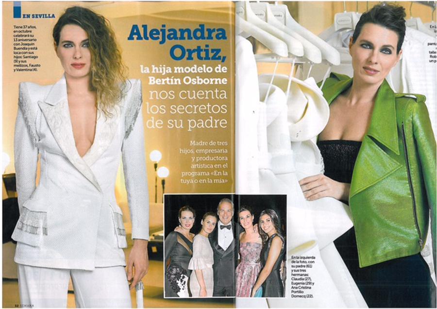 Shooting con Alejandra Ortiz vestida por Roberto Diz