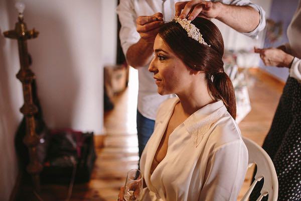 Maquilladora en espartinas para la boda de Clara y Xavi
