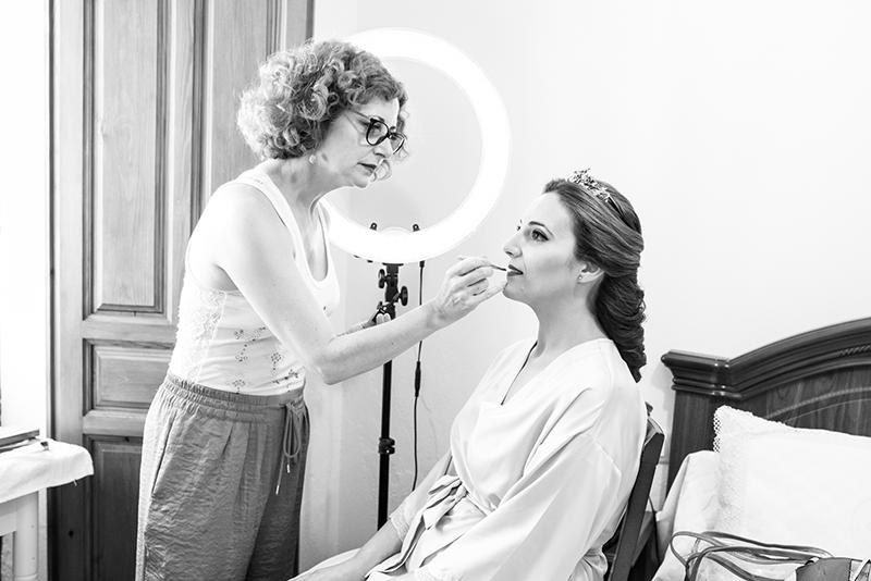 maquillando a maria cortés,