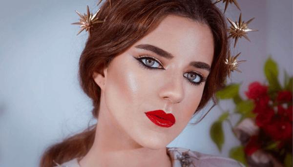 Detalle de maquillaje nupcial